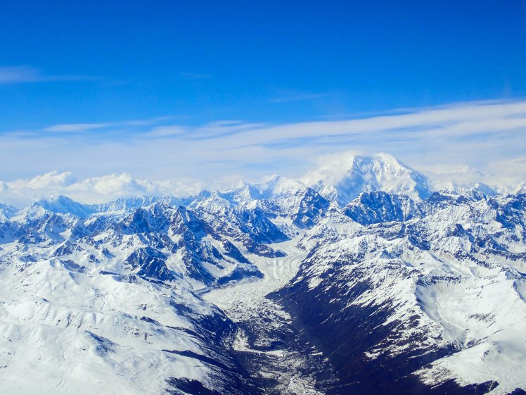 Denali from the plane